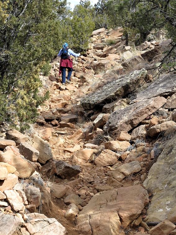 Hiking Up Loop Trail