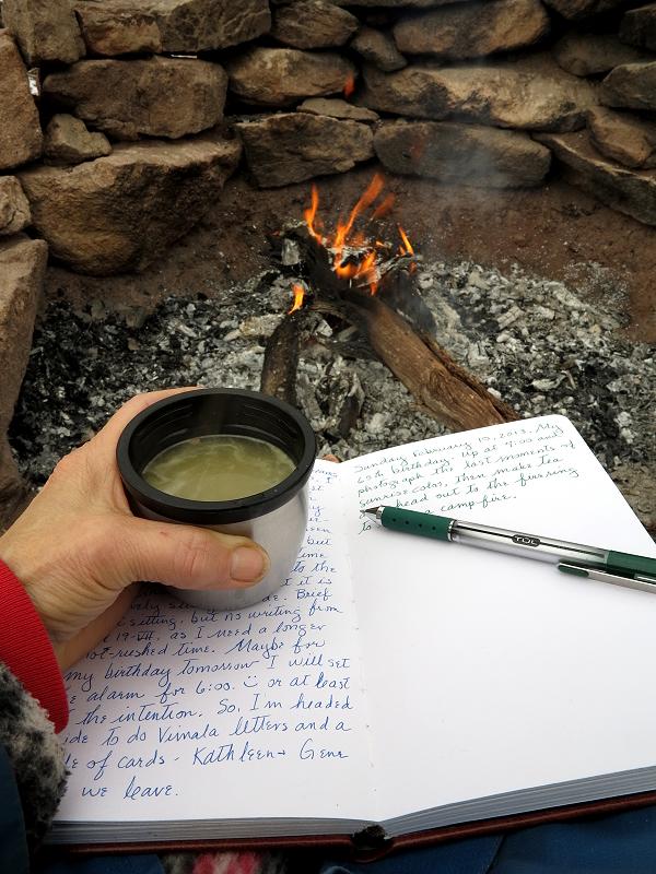 Hot Yerba Matte and Journal Writing